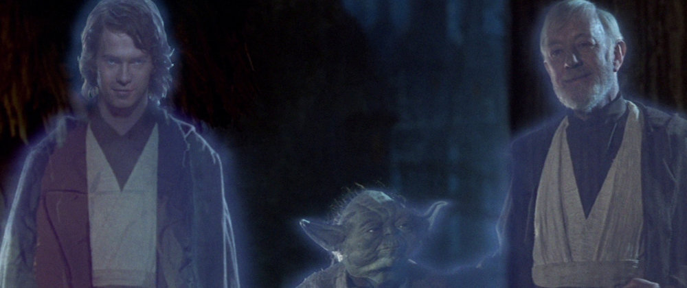 Pictured: Sir Alec Guinness returning from the dead to roll over in his grave. Also pictured: A muppet and Yoda
