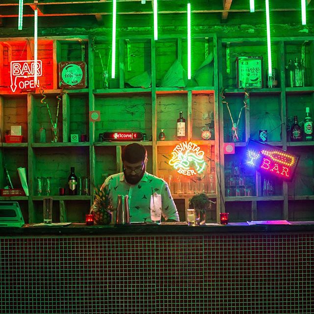 The bar is getting ready for a load of drowned rats tonight! Come in and see us for warm vibes and strong drinks!