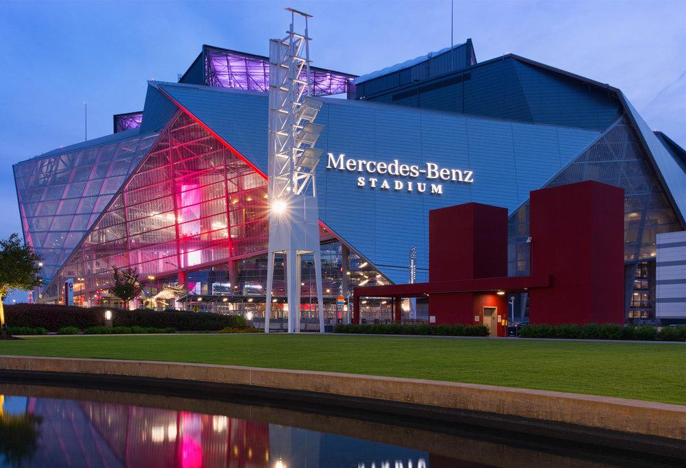 Mercedes Benz Stadium - Atlanta, Georgia  (credit: MercedesBenzStadium.com)