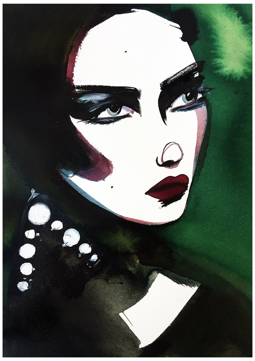 Dior Beauty - Mixed media painting on paperA3 (29.7x42cm)£400