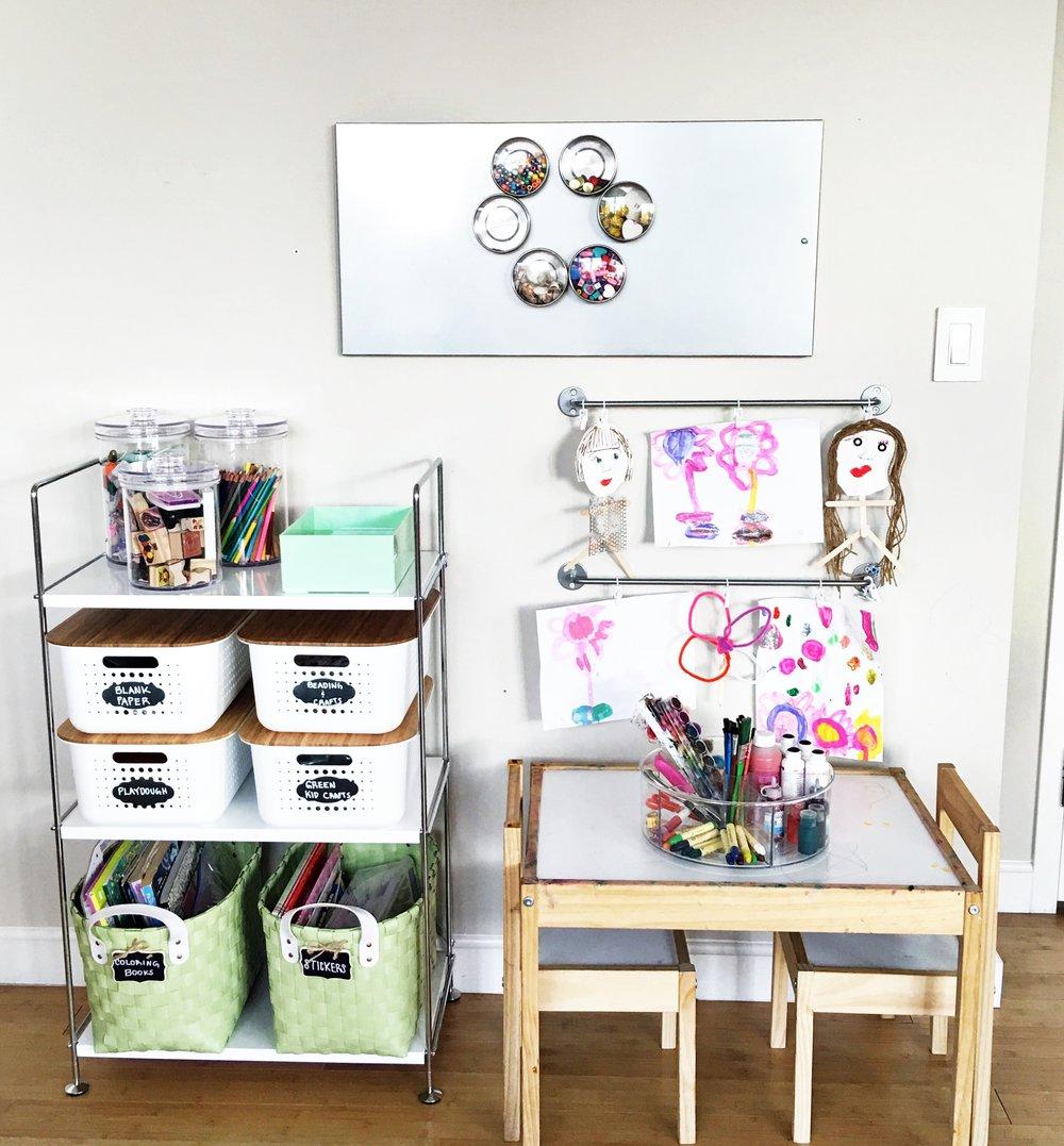 Shelfie_Kids_Organized Art Table