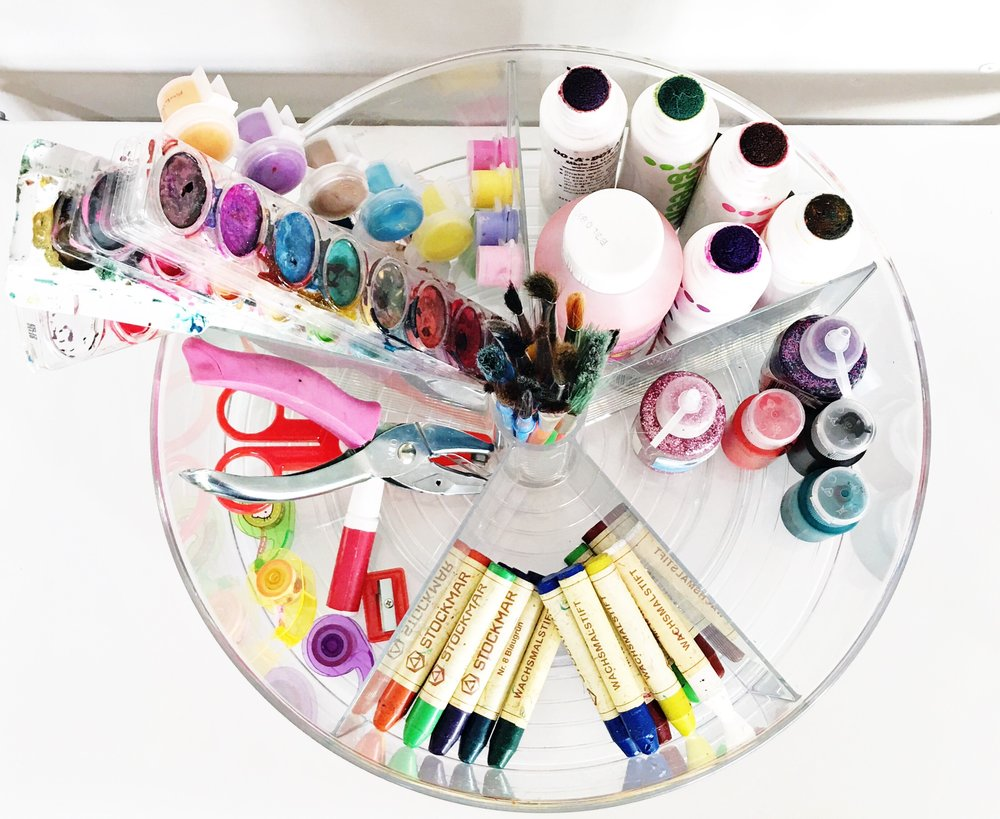 Shelfie_Kids_Organized Paint_Lazy Susan