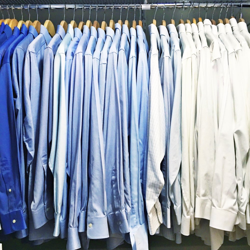 Shelfie_Organized mens shirts_Organized blue Shirts_Organized Closet