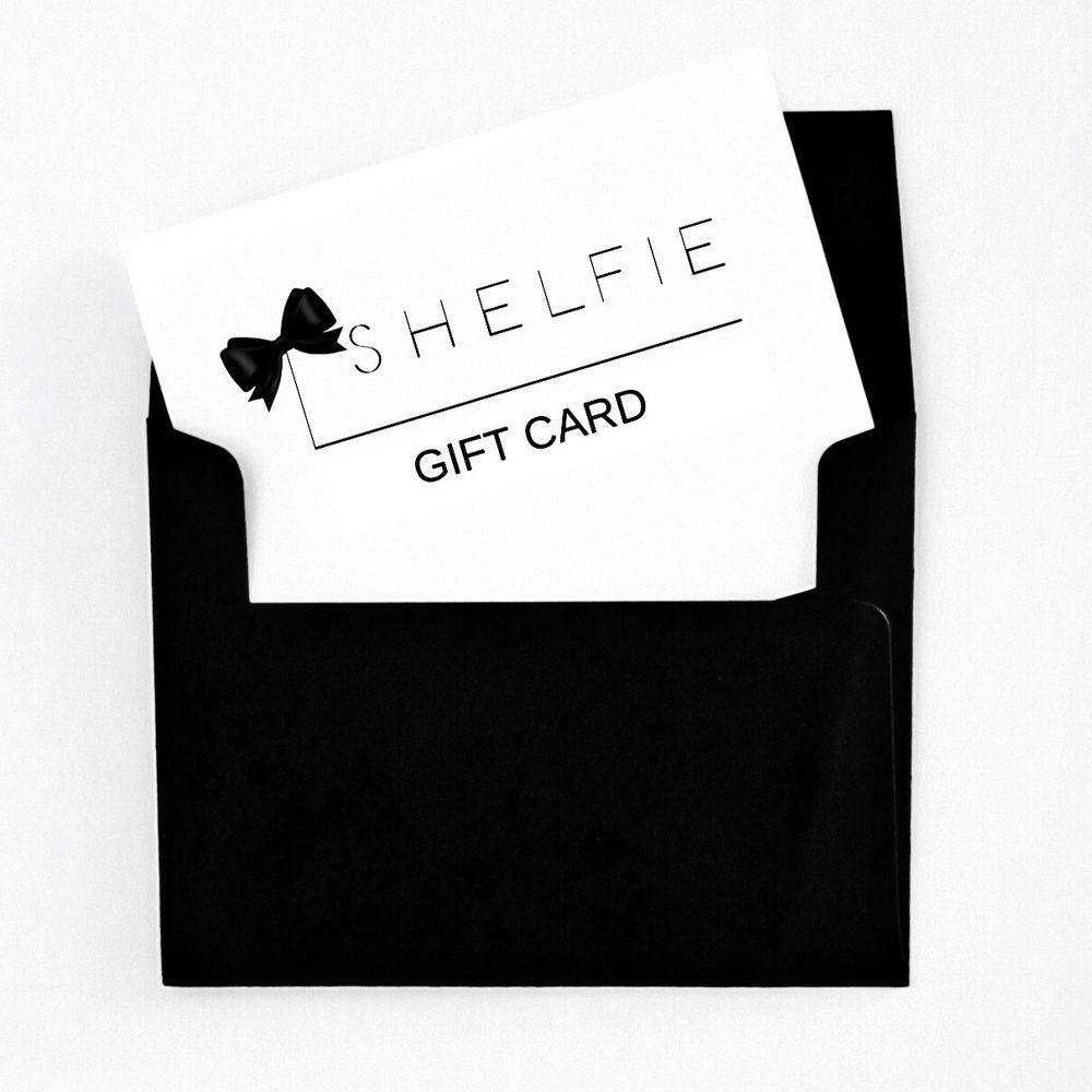 SHELFIE GIFT CARD BLACK BOW -
