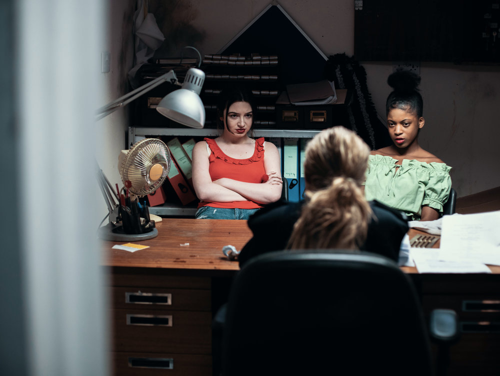 Christina Bimpson as Julie, Rochelle Simpson as Shaz and Kierston Wareing as Margaret in LIPPY 1.jpg