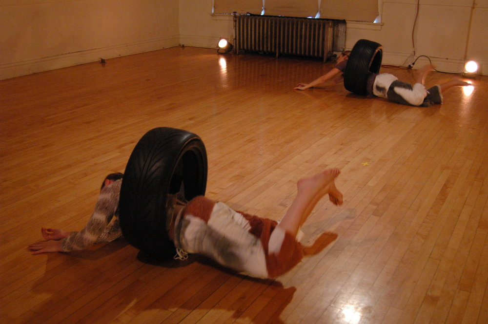 two rolling in tires .JPG