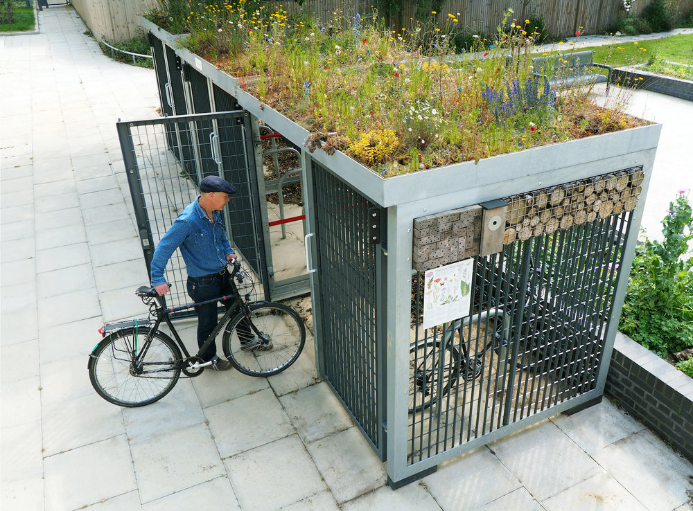 Cycle Amp Bin Shelters Grass Roof Company