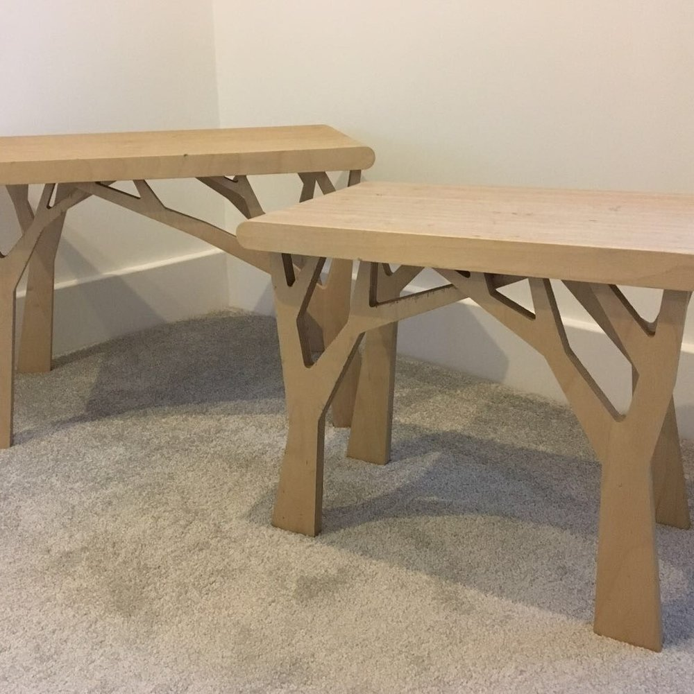 Furniture - Here you can see some of the furniture we've made utilising the CNC router.