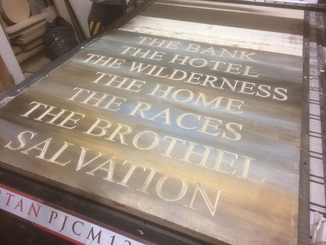 A couple of signs for the local area!  #tinshedcnc #tinshedscenery #cnc #vcarve #theatreset #scenery #cncrouter #sign #carved #plywood