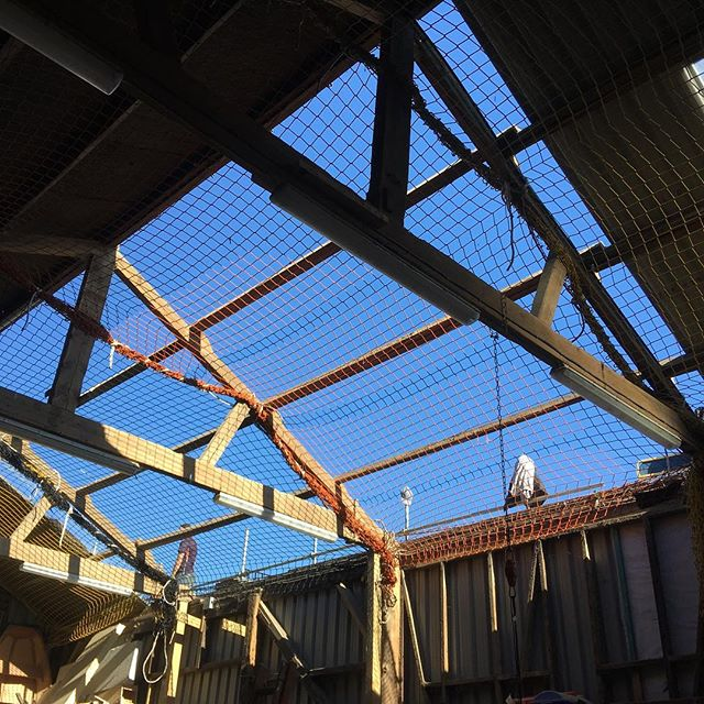 The new workshop roof is coming! Hoorah! #roofing #tinshedscenery #tinshed