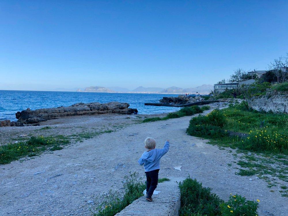 Beachcombing in Sicily