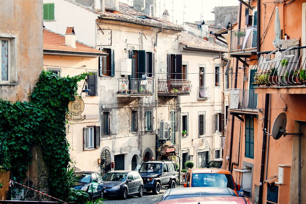 Can you fit an Alfa Romeo down this road? With pedestrians thrown in the mix?