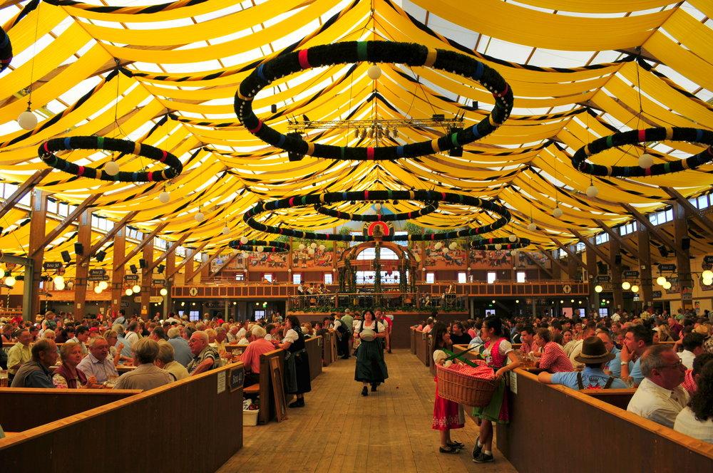 Löwenbräu-Festhalle tent at Oktoberfest