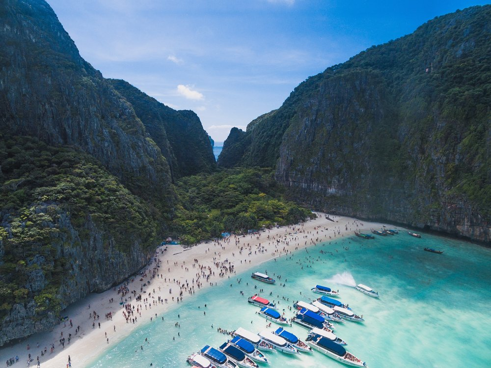 Over-tourism at Maya Bay