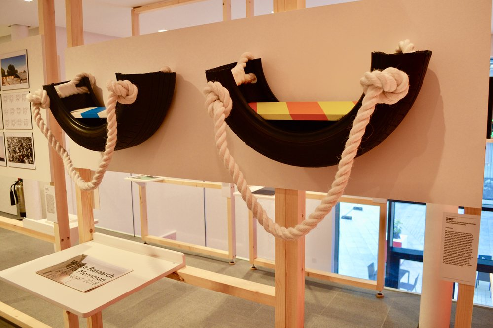 Canal Chairs on display in 'After Island' by the British Council at RIBA North