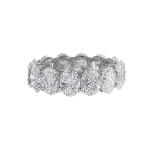 Oval Diamond Wedding Band — Trabert & Hoeffer