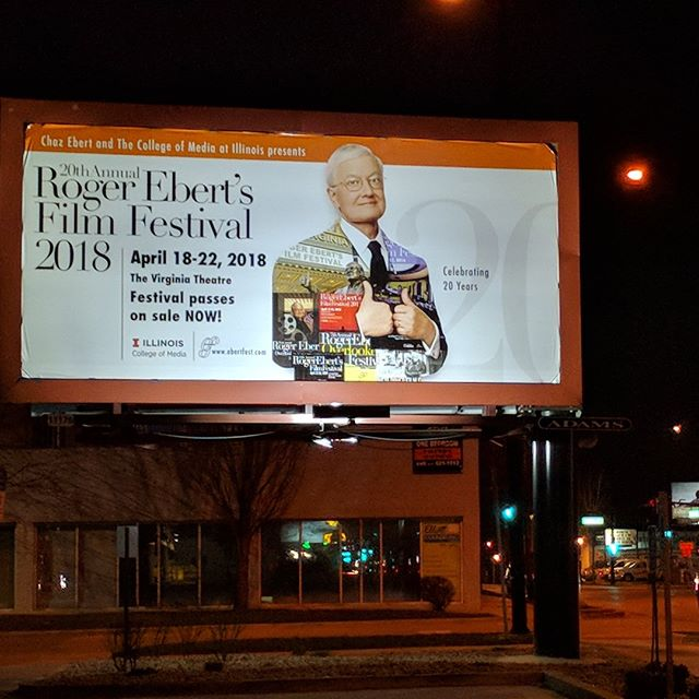 @Ebertfest kicks off tonight!  #Ebertfest2018  Roger Ebert's Film Festival (Ebertfest) celebrates films that haven't received the recognition they deserved during their original runs. The festival gives these films and their filmmakers a well-deserved second look.  All the festival films screen in the 1,500-seat Virginia Theatre, a restored 1920s movie palace with state-of-the-art 35/70mm and digital projection. A portion of the Festival's income goes toward on-going renovations at the theatre.