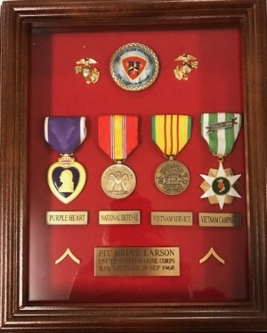 Medals awarded to Bruce Larson