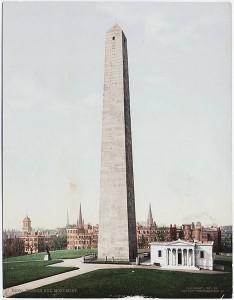 Bunker Hill Monument, postcard circa 1897-1924