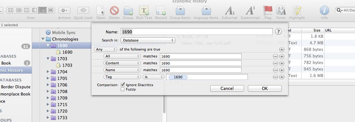 Smart Folder Configuration