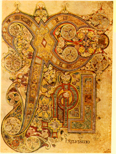 Book of Kells ChiRho Folio