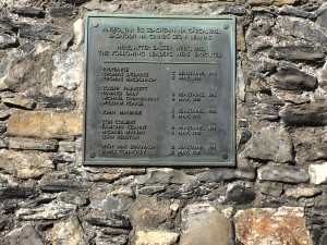 Kilmainham Gaol Plaque to 14 Irish Uprisers