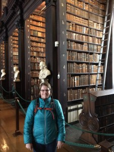Liz in Long Room Trinity College
