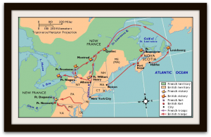 French and Indian War Tour Map