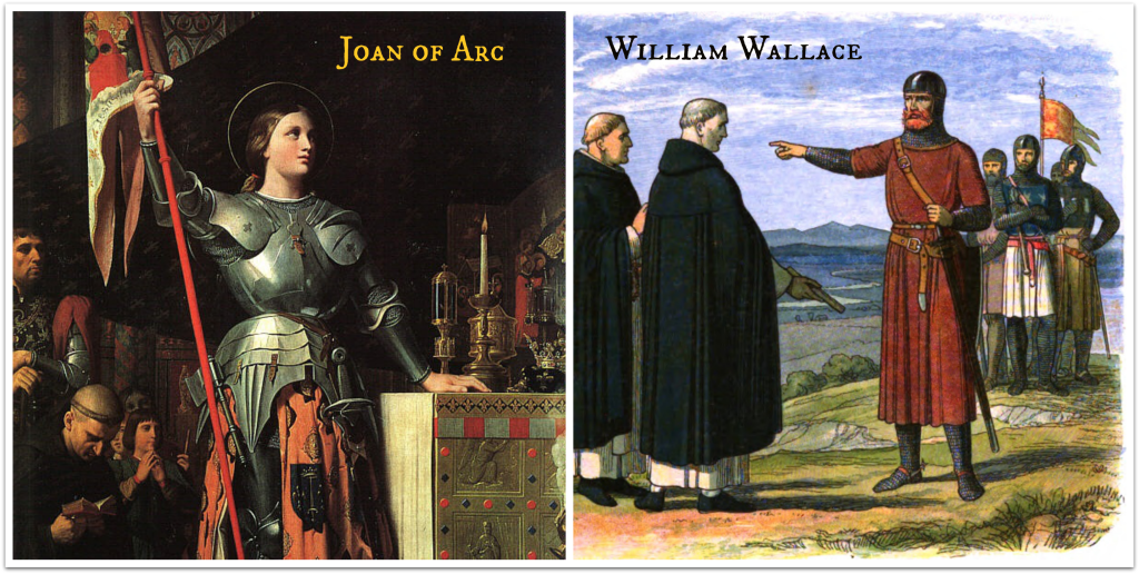 Joan of Arc and William Wallace