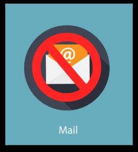 No e-mail