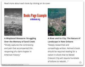 Books Page Example