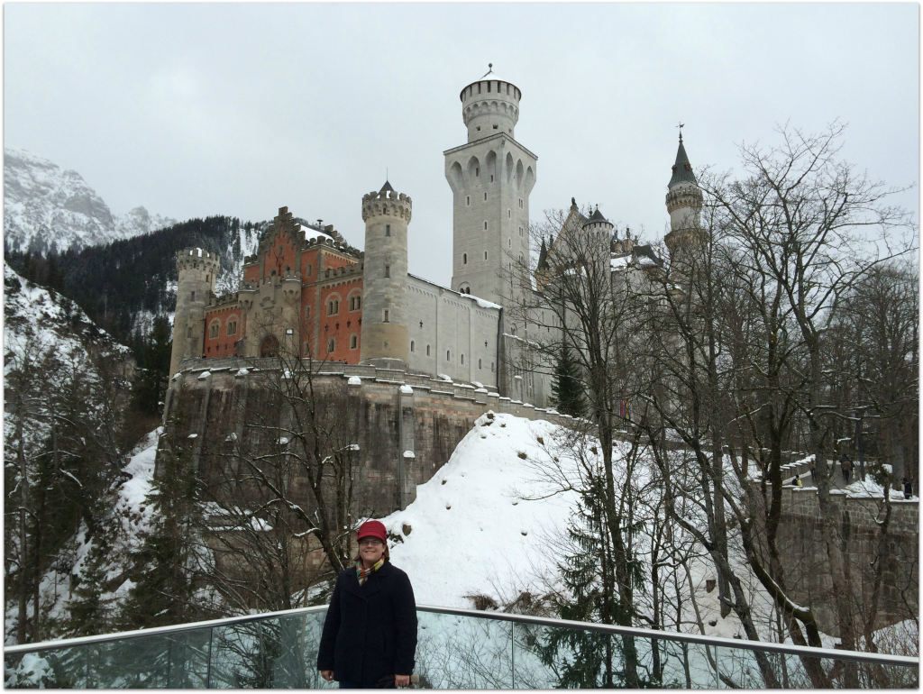 Liz at Neuschwanstein Castle