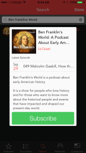 PocketCasts Subscribe