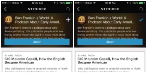 Stitcher Radio App subscribe