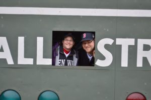 Liz and Tim in Green Monster