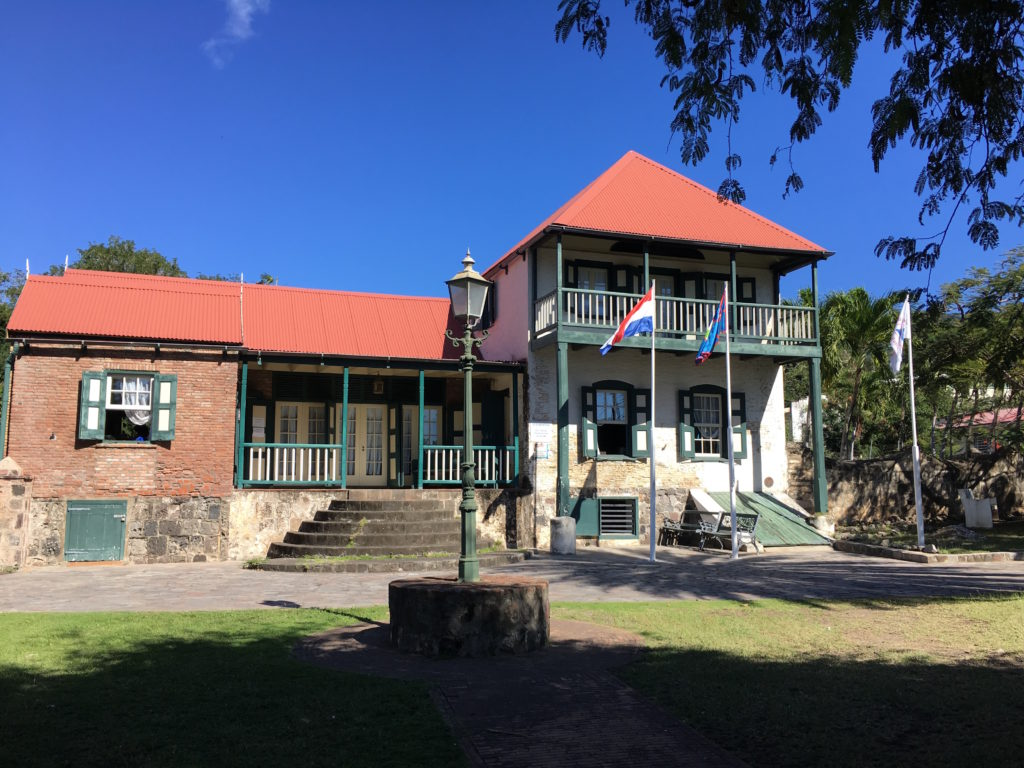 Sint Eustatius History Museum. In 1781, Admiral George Rodney used this house as his headquarters; it had the best wine cellar. The bottom of the house is built of brick and stone, the upper part of wood.