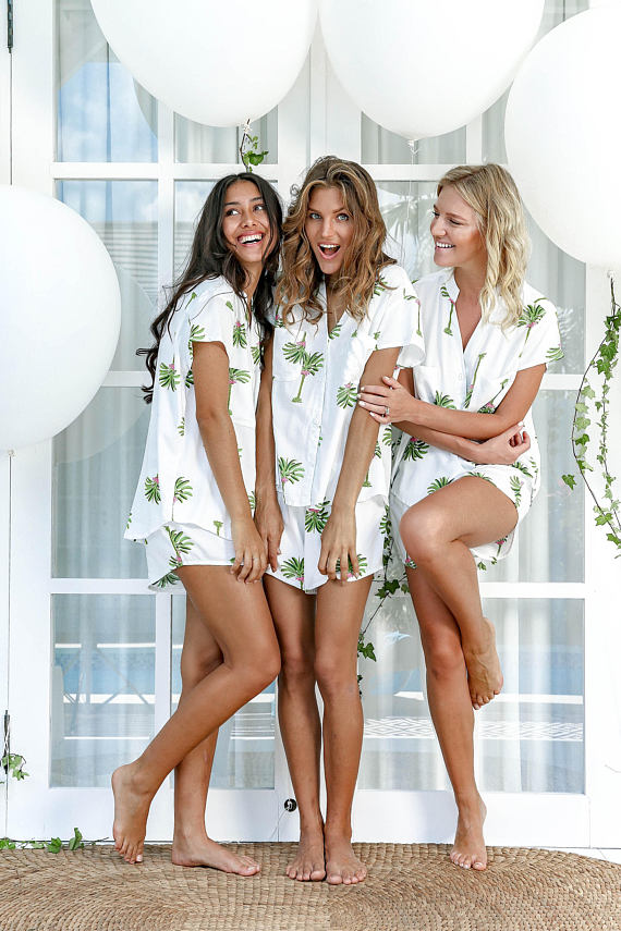 Palm Springs Maggie Pajama Set by Piyama, $49. Image via Piyama
