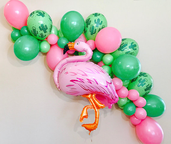 Flamingo Cactus Balloon Garland by Girly Gifts, $42. Image via Girl Gifts.