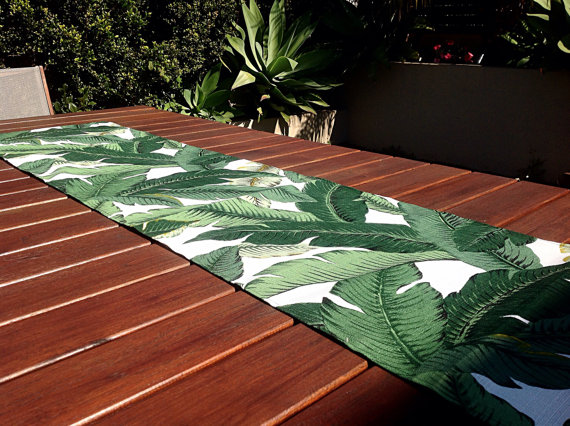 Banana Leaf Table Runner by My Beachside Style, $40. Image via My Beachside Style