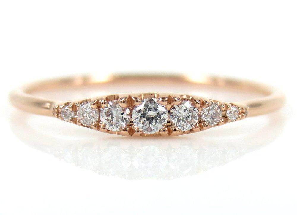 Seven Stone Graduated Ring, $295. Image via Zina Tahiri