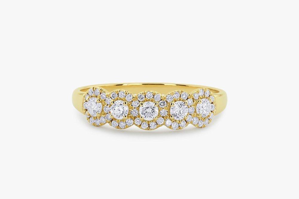 5 Diamond Band , $635. Image via Ferko's Fine Jewelry