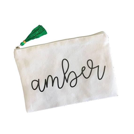Personalized Tassel Bag, $16. Image via The Sleepy Cottage