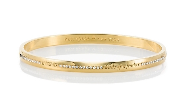 Bridesmaid Idiom Bangle by Kate Spade, $58. Image via Kate Spade
