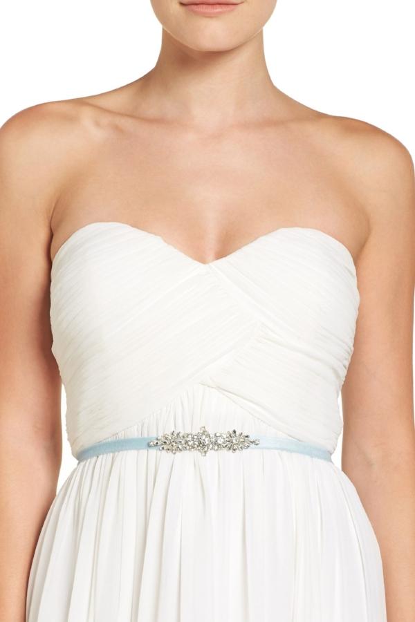 Something Blue Wedding Ideas - Blue Bridal Sash by Jenny Yoo | Image via Nordstrom