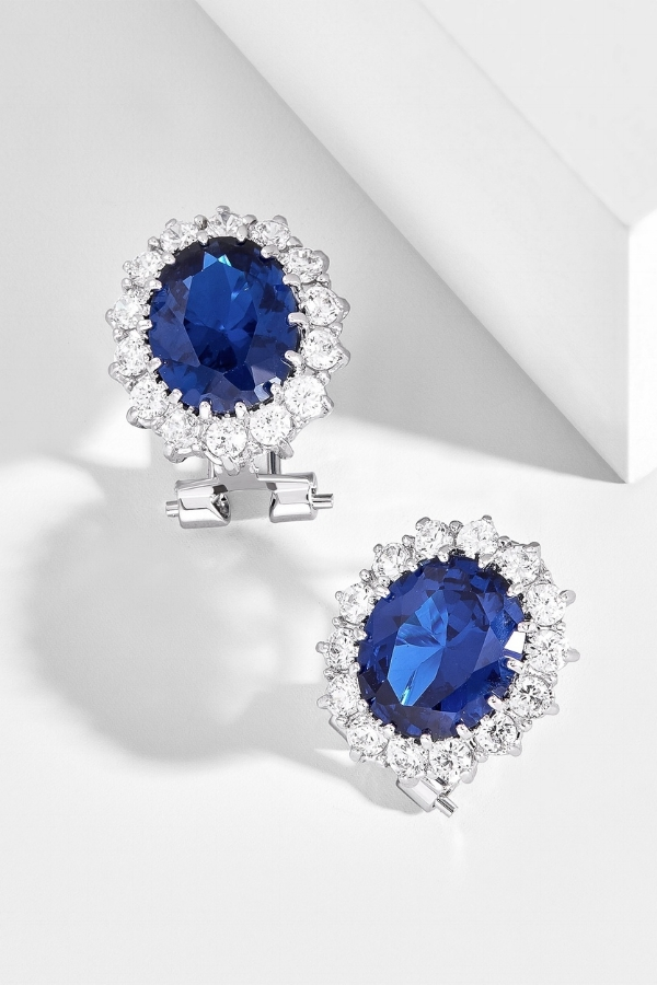 Something Blue Earrings for Your Wedding Day | Image via Bauble Bar