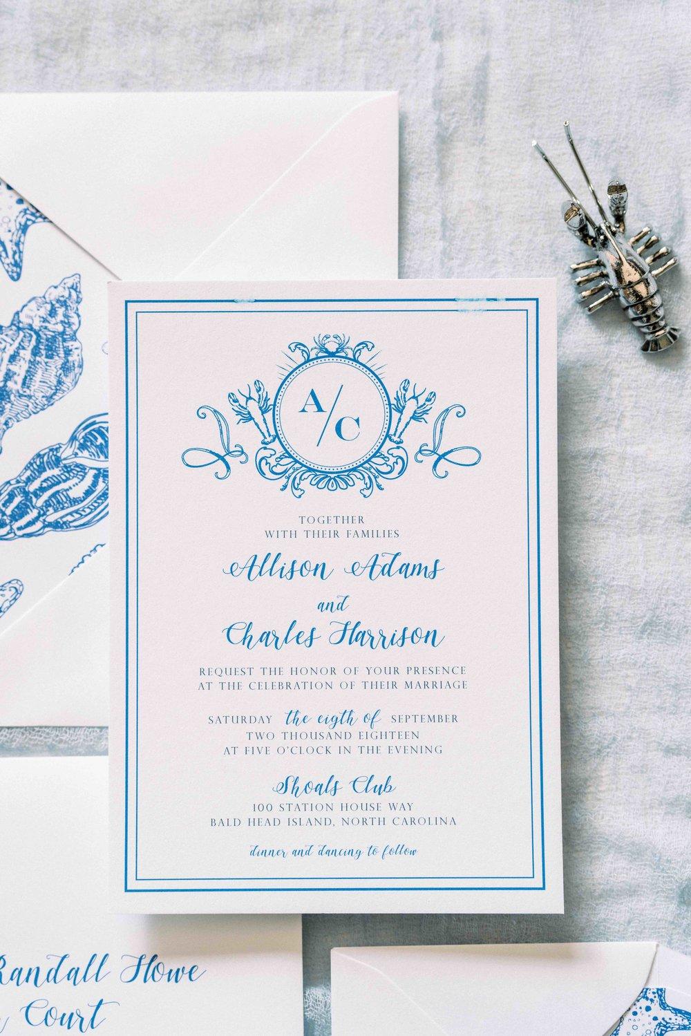 Nautical Wedding Invitations by Prim Pretty Prints