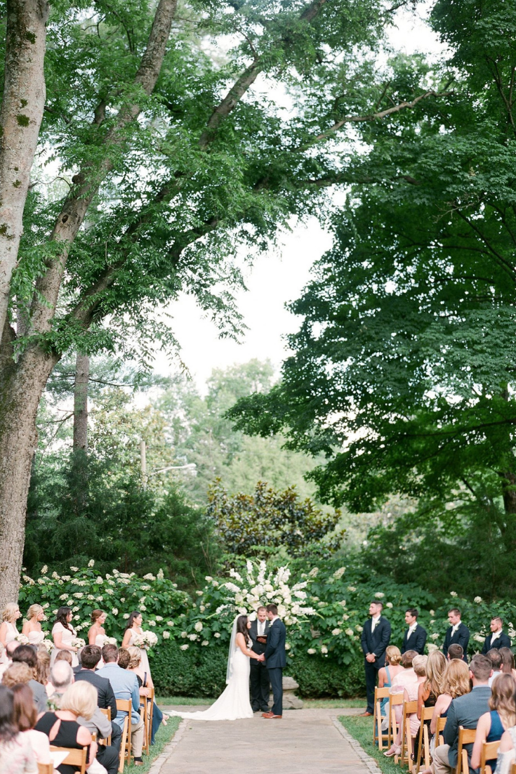 Gorgeous garden outdoor wedding at Belle Meade Plantation in Nashville, Tennessee. Photo by Christy Wilson Photography.