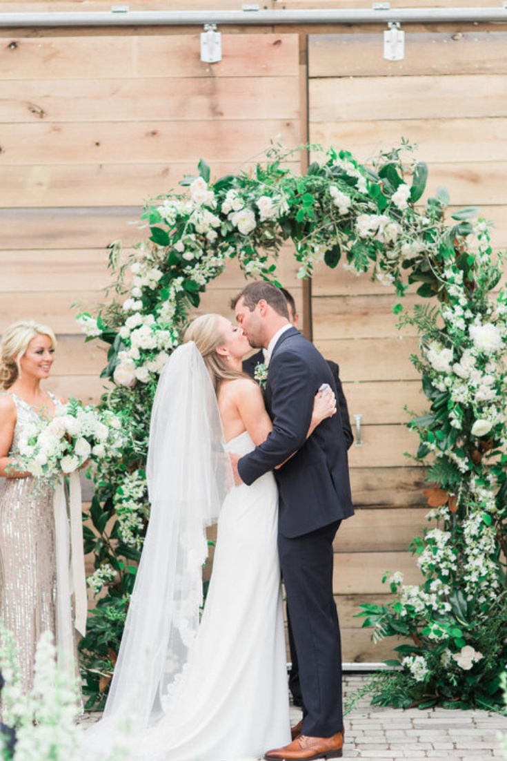 Greenhouse wedding at Long Hollow Gardens in Nashville, Tennessee. Photo by Julie Paisley Photography.