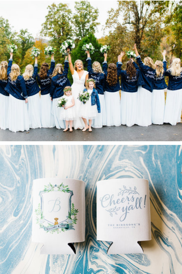 Navy and slate blue wedding in Nashville. Photo by Feiten Photography.