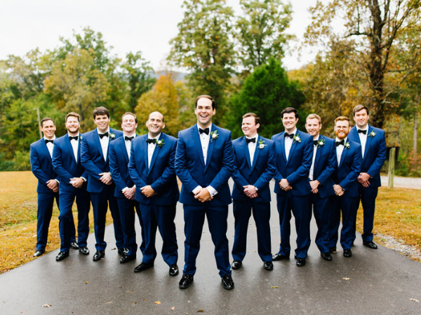 The groom and his groomsmen at Front Porch Farms. Photo by Feiten Photography.